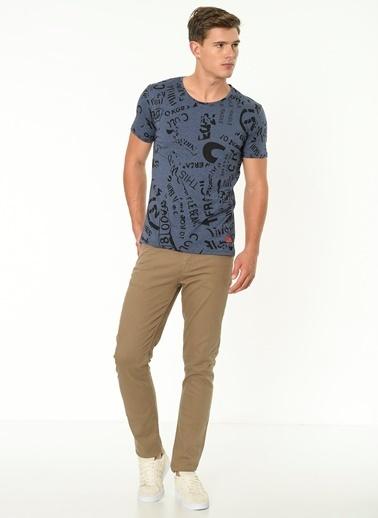 Lee Cooper Desenli T-Shirt İndigo